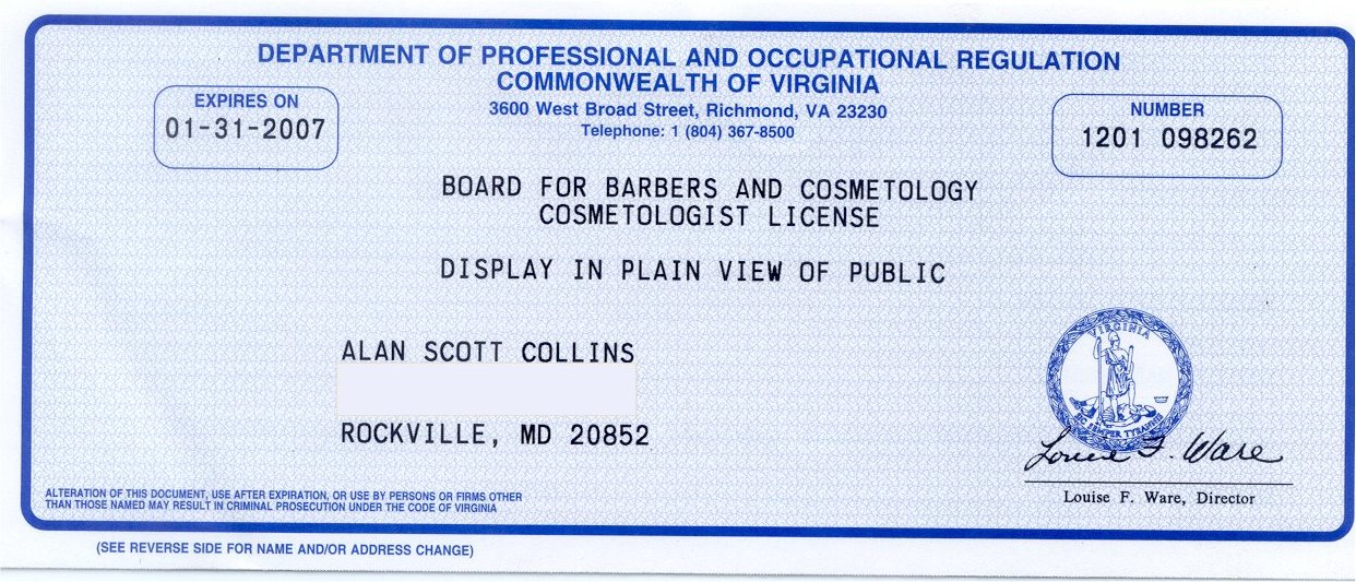 CA+Cosmetology+License+Renewal Cosmetology License Tamara L. Babcock
